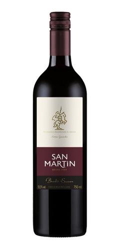Imagem 1 de 4 de Vinho Fino Tinto Mesa San Martin Bordô Suave 750ml Nacional