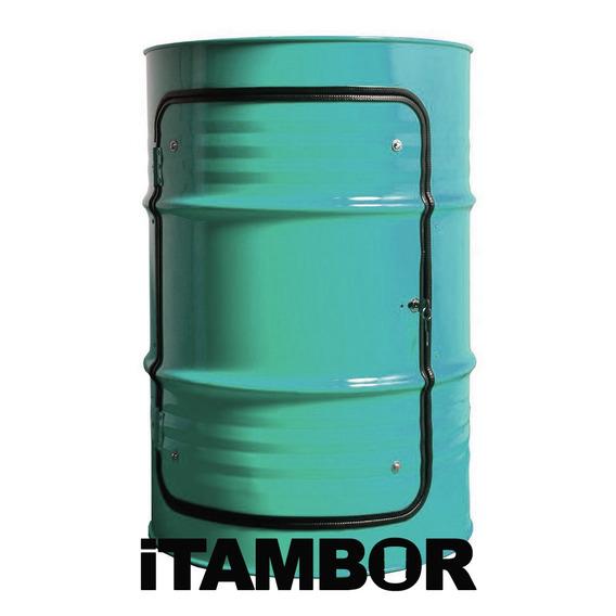 Tambor Decorativo Com Porta - Receba Em Breu Branco