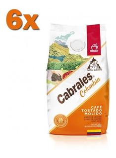 6x Cafe Molido Cabrales Colombia 500gr 3kg Tostado