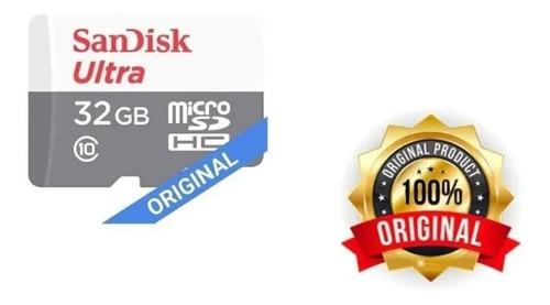 Imagem 1 de 6 de Cartão Memória Sandisk Ultra 32gb Micro Sd Original