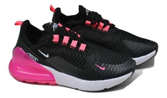Kp3 Zapatos Niñas Nike Air Max 270 Negro / Fucsia