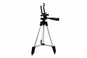 Tripé De Alumínio Para Câmera Fotográfica Celular Tablet 1m