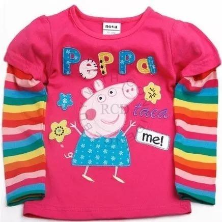 Blusa Infantil Manga Longa - Peppa Pig