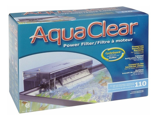 Filtro Cascada Aquaclear 110 Acuarios Peceras De 416lts Max