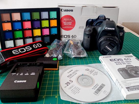 Canon 6d Fullframe + Bateria + Carregador + Colorchecker