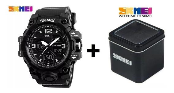 Relógio Masculino Skmei 1155b + Caixa - Digital Analogico