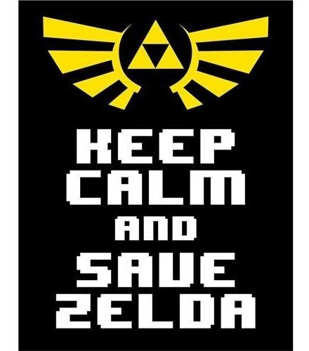 Placa De Parede Keep Calm And Save Zelda Rcr Games
