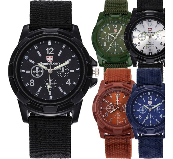 10 Reloj Hombre Mayoreo Militar Army Moda Caballero Barato