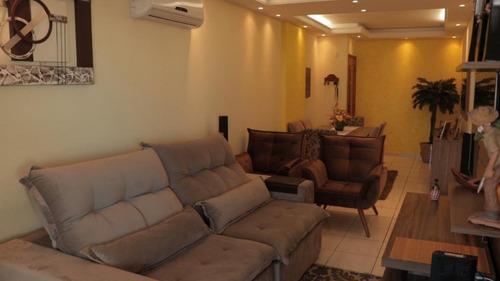 Apartamento Planejado  Com Vista Do Mar  3 Dormitórios À Venda, 117 M² Por R$ 485.000 - Tupi - Praia Grande/sp - Ap3495