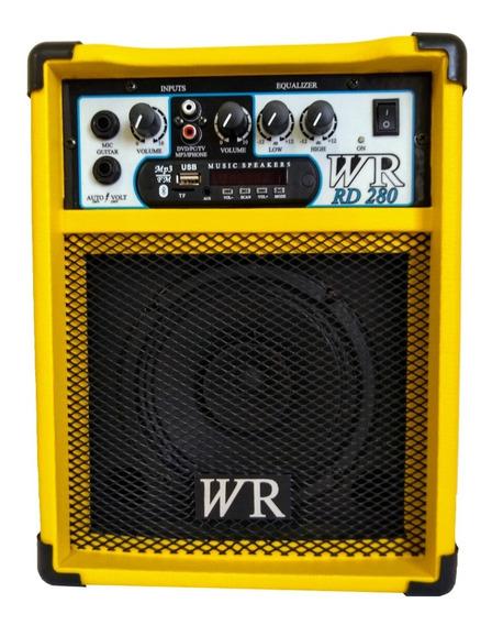 Caixa De Som Amplificada Bluet/mic/guitarra/violão 6