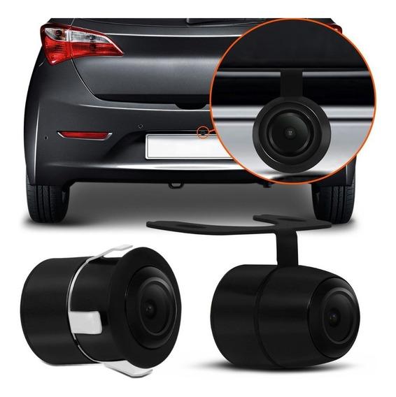 Câmera De Ré Automotiva Borboleta 2 Em 1 Colorida Mini