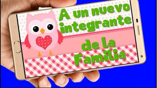 Baby Shower Vídeo Tarjeta Invitación Cumpleaños Whatsapp