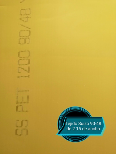 Tejido Suizo 90-48 Amarillo De 1 Mt X 2.15 De Ancho