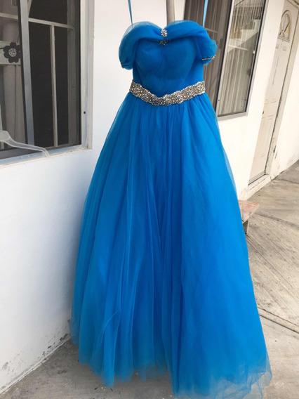 Vestido De Xv Años, Cenicienta, Azul