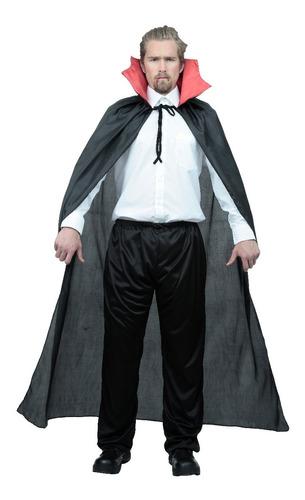 Imagen 1 de 1 de Capa Dracula Hombre Halloween Disfraz Fiesta Disfraz