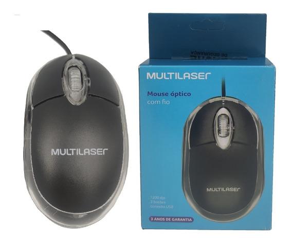 Mouse Usb Óptico Classic Preto - Multilaser Mo179