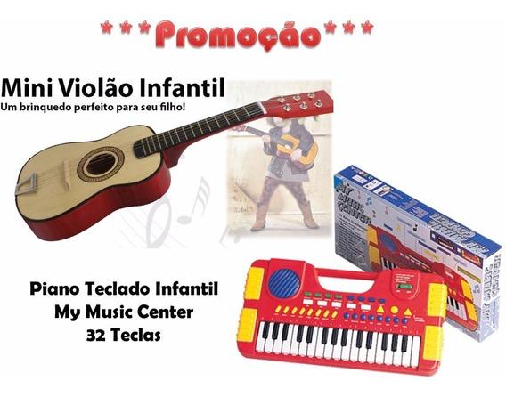 Kit Violão Madeira + Mini Teclado *** Promoção
