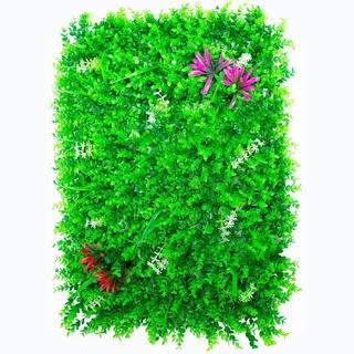 Follaje Pared Muro Verde Flores Decorativo