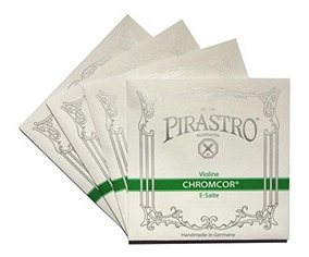 Conjunto Pirastro Chromcor Violino + Breu Pirastro Schwarz