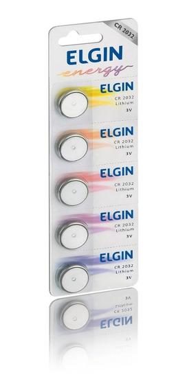 Bateria Elgin Cr2032 3v Com 5 Unidades Elgin