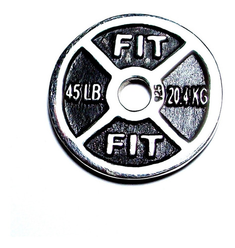Dije De Pesa Disco Olimpico Gym En Plata Ley.925 Sterling