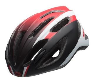 Capacete Ciclismo Bike Bell Crest R Mtb Preto Com Vermelho