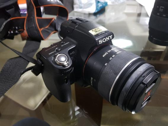 Camera Sony Slt Dsrl Alpha 33 + Lente Telesc. Sigma 70-300