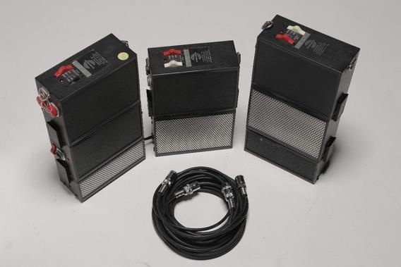 Flash Lumedyne Conjunto De 3 Geradores/acessórios (made Usa)