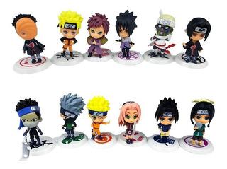 Kit 12 Miniaturas Naruto Uchiha Hatake Gaara Sasuke Outros