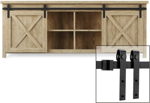 Imagen 1 de 6 de Easelife - Kit De Riel Para Puerta Corrediza Con Montaje Sup