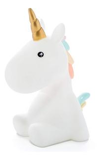 Velador Tierno Unicornio Lampara Led Luz De Noche A Pila !