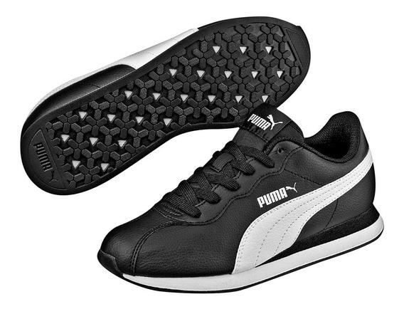 Tenis Puma Original Turin 11 Jr Niño Negro Blanco 366773-01
