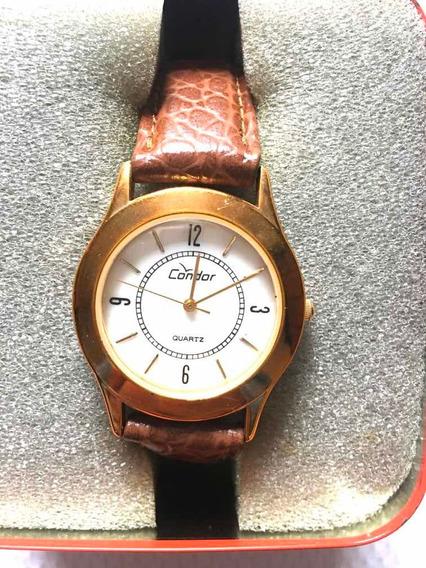 Relógio Condor Pulseira De Couro