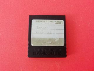 Memory Card De 251 Bloqueos Original Nintendo Gamecube