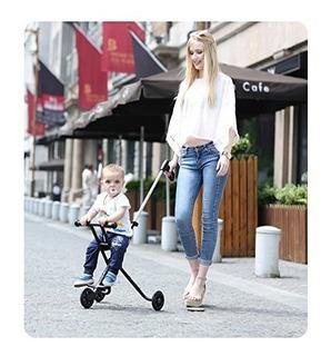 Baby Scooter Portátil Plegable Luz Led 3 Llantas Sin Frenos