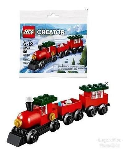 Tren Lego Creator 30543 1 Personaje 66 Piezas  1 Librito