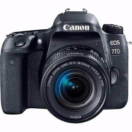 Câmera Canon Eos 77d Kit 18-55mm Is Stm P/ Entrega