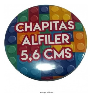 Chapitas Publicitarias Personalizadas 50 Unidades