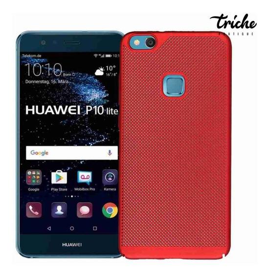 Funda Case Slim Elegante Puntos Colores Huawei P10 Lite