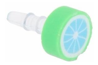 Plug Piercing Enfeite Celular Fruta Limão