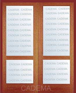 Puerta Doble 120 X 200 Vidriada Total Madera