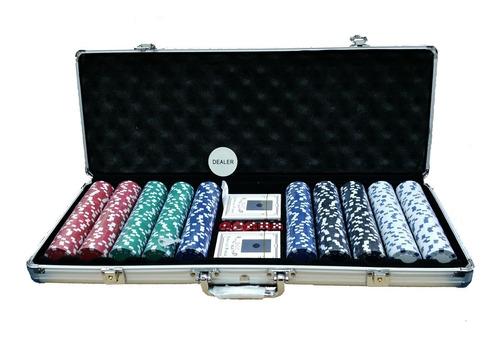 Maletin Con 500 Fichas De Poker