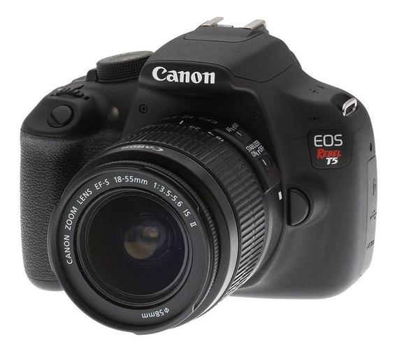 Canon T5 Kit Com 2 Lentes + Micro Sd Ultra 32gb Classe 10
