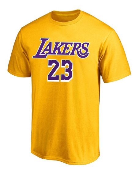 Remera Basket Nba Los Angeles Lakers Lebron Algodon Amarilla