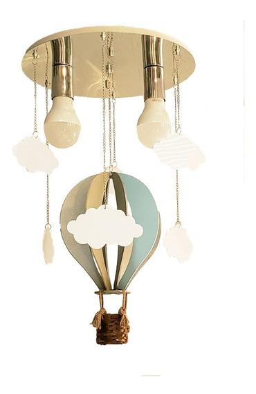 Lustre Infantil Balão Com Nuvens