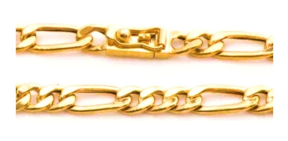 Pulseira Masculina Ouro 18k Grumet Alternado 15g Oca 0011