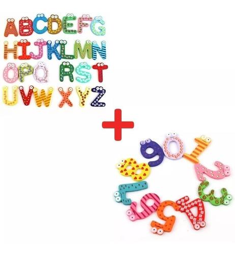 Letras Abecedario + Numeros Didacticos Magnéticos Montessori