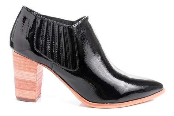 Botas Botinetas Zapatos Mujer Botitas Charol Punta Fina