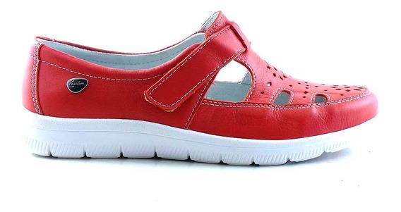 Chatita Cuero Mujer Cavatini Zapato Abrojo Goma - Mccha2993
