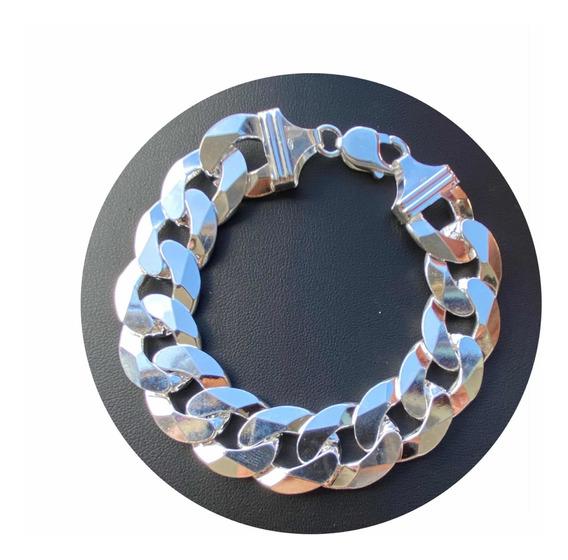 Pulseira Grumet Super Grossa 18mm 75 Gramas Diamantada Peata